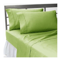 SCALA - 400TC Solid Sage Full XL Flat Sheet & 2 Pillowcases - Redefine your everyday elegance with these luxuriously super soft Flat Sheet . This is 100% Egyptian Cotton Superior quality Flat Sheet that are truly worthy of a classy and elegant look.