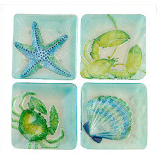 Tropical Plates by Nautical Decor & Gifts