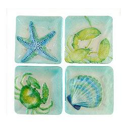 Seabreeze Salad Plates - I would enjoy having a summer salad on these breezy sea life salad plates.