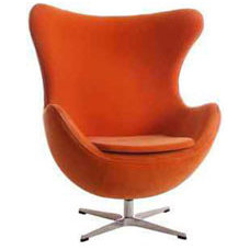 Contemporary Chairs Orange Egg Chair