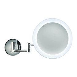 Modo Bath - Smile 304 Magnifying Mirror illuminated in Chrome 5x - Smile 304 Magnifying Makeup Mirror illuminated in Chrome, with LED Light