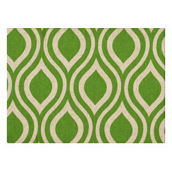 """Close to Custom Linens - 72"""" Shower Curtain, Unlined, Nicole Green Beige Geometric - Nicole is a contemporary medium scale geometric in green on a neutral beige linen-textured background. Reinforced button holes for 12 curtain rings."""