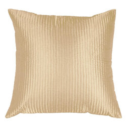 "Surya - Surya PC-1005 Shapely Stripe Pillow, 20"" x 20"", Down Feather Filler - Create a look of contemporary charm with this elegant pillow. Featuring a subtly chic design and striking cream coloring, this piece will pair perfectly with a range of styles, securing itself as the crowning jewel of any space. This pillow contains a zipper closure and provides a reliable and affordable solution to updating your home's decor."
