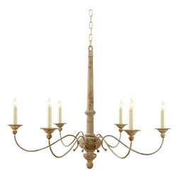 Visual Comfort & Co. - Visual Comfort & Co. S5212BW Studio Country 6 Light Chandeliers in Belgian White - This 6 light Chandelier from the Studio Country collection by Visual Comfort will enhance your home with a perfect mix of form and function. The features include a Belgian White finish applied by experts. This item qualifies for free shipping!