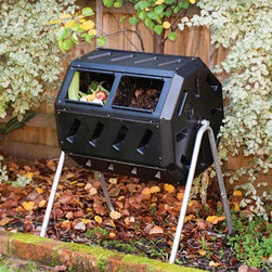 "Forest City Models and Patterns - Yimby Tumbler Composter - Yimby is an acronym for ""Yes in my backyard."" Yimby home and garden products help promote environmental responsibility, sustainability, well being and overall enjoyment of home and garden. This unique tumbling composter features two chambers, fill one side while the other side cures, making it easy to efficiently convert your kitchen and yard waste into rich soil enhancing compost. Just load it up, close the sliding door and use the convenient built- in hand holds to give it a turn every couple days and see how it produces finished compost in weeks. The tumbling composter is made with recycled, up inhibited, black plastic which absorbs heat and is designed to be rodent-proof. Help divert waste from landfill or costly processing and turn your own organic waste into compost in your own backyard. Features: -Easy turn barrel with convenient built- in hand holds.-Adjustable air vents.-Rodent resistant.-Two chambers for efficient batch composting.-Space efficient size with 5 cubic feet capacity.-Made in Canada.-Made from durable, UV. resistant plastic with recycled content and includes a strong steel frame, which will last for many years.-Yimby collection.-Product Type: Composter.-Collection: Yimby.-Color: Black.-Distressed: No.-Powder Coated Finish: No.-Material: Recycled Plastic.-Hardware Material: Steel.-Number of Items Included: 3.-Non-Toxic: Yes.-Water Resistant: Yes.-Weather Resistant: Yes.-Odor Resistant: No.-Stain Resistant: Yes.-Rust and Corrosion Resistant: Yes.-Warp Resistant: Yes.-Mildew Resistant: No.-Algae Resistant: No.-Insect Resistant: No.-Rodent-Proof: Yes.-UV Resistant: Yes.-Fade Resistant: No.-Crack Resistant: Yes.-Child Safe: Yes.-Pet Safe: Yes.-Composter Capacity: 5 cubic feet.-Tumbler: Yes.-Worm Farm: No.-Indoor or Outdoor Use: Outdoors.-Foldable: No.-Hose Included: No.-Debris Screen Included: Yes.-Compostable Bag Included: No.-Wall Mounted: No.-Latching Lid: No.-Number of Access Doors: 1.-Vents: Yes.-Drainage: No.-Number of Legs: 4.-Wheels: No.-Swatch Available: No.-Commercial Use: Yes.-Recycled Content: Yes -Total Recycled Content (Percentage): 100%.-Remanufactured/Refurbished: No..-Eco-Friendly: Yes.-Country of Manufacture: Canada.Specifications: -FDA Compliant: No.-EPP Compliant: No.-General Conformity Certified: No.-Green Guard Certified: No.-USDA Compliant: No.-BPA Free: No.Dimensions: -Overall Height - Top to Bottom: 36"".-Overall Width - Side to Side: 28"".-Overall Depth - Front to Back: 26"".-Wall Thickness: 0.1"".-Aeration Hole Diameter: 3"".-Opening Width - Side to Side: 20"".-Opening Depth - Front to Back: 6"".-Overall Product Weight: 30 lbs.Assembly: -Assembly Required: Yes.-Tools Needed: Screwdriver.-Additional Parts Required: No.Warranty: -Product Warranty: 1 Year."