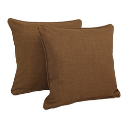 Blazing Needles - Blazing Needles All-weather Outdoor 20-inch Knife Edge Pillows (Pack of 2) - This set of two weather-resistant,outdoor decorative pillows is a quick and simple way to add a splash of life to your patio,deck or garden. They are expertly crafted to endure the elements and available in an array of warming colors.
