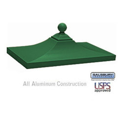 Salsbury Industries - Regency Decorative CBU Top - Green - Regency Decorative CBU Top - Green