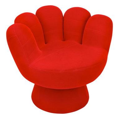 "Lumisource - Mitt Chair, Red - 32"" Diam. x 27.5"" H"