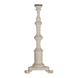 Zentique - Irene Candle Holder - The Irene Candle Stick is a tall baluster-like candle holder in an antique white finish.