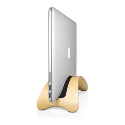 Twelve South - BookArc möd Birch for MacBook Air, Pro, Retina by Twelve South - BookArc möd is a meticulously crafted hardwood MacBook stand that blurs the lines between furniture and technology. Inspired by the remarkable spaces many MacBook owners inhabit, this beautiful arc-shaped stand elevates your MacBook up off your desk for a clean workspace. Delivered in museum-quality packaging, this impressive stand looks more like a fixture for your home than an accessory for your Mac. BookArc möd is compatible with all MacBooks, and is available in three finishes: Birch, Walnut and Espresso.