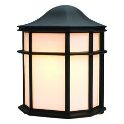 Hardware House - Black Outdoor Patio / Porch Exterior Light Fixture - Finish: Black