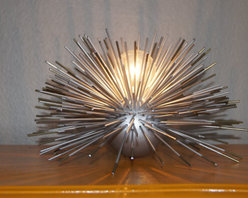 Metal Urchin Table Lamp by Stimulight - I have a thing for sea urchins and would be happy to give this metal urchin light a home.