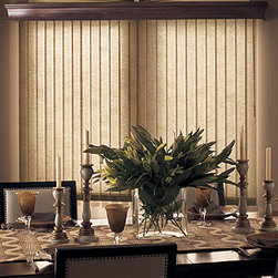 Bali - Bali Spectrum Fabric Vertical Blinds - Bali verticals add drama, dimension and contemporary styling to patio doors and wider windows.  Spectrum fabric vertical blinds feature a basic color collection to match most any decor and have a stitched texture.