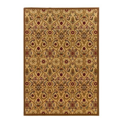 """Oriental Weavers - Transitional Knightsbridge Hallway Runner 2'3""""x7'6"""" Runner Gold-Brown Area Rug - The Knightsbridge area rug Collection offers an affordable assortment of Transitional stylings. Knightsbridge features a blend of natural Gold-Brown color. Machine Made of Wool the Knightsbridge Collection is an intriguing compliment to any decor."""