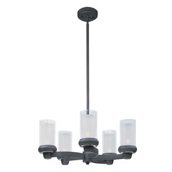 Maxim Lighting - Bronze Bayview 5 Light 1 Tier Candle Style Chandelier - Product