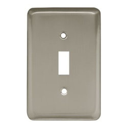 Liberty Hardware - Liberty Hardware 64138 Stamped Round WP Collection 3.15 Inch Switch Plate - Sati - A simple change can make a huge impact on the look and feel of any room. Change out your old wall plates and give any room a brand new feel. Experience the look of a quality Liberty Hardware wall plate.. Width - 3.15 Inch,Height - 4.9 Inch,Projection - 0.2 Inch,Finish - Satin Nickel,Weight - 0.14 Lbs