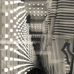 """Hollywood Lights"" Artwork - Black and white photograph on metallic paper"