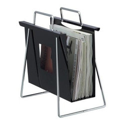 Adesso Portfolio Magazine Rack - Black/Chrome - About AdessoAdesso was established in 1994 based on the belief that there was an under-served niche among consumers who sought high-quality, contemporary home products at moderate prices. Since then, Adesso has not only revolutionized the home industry with its products and service, but has also gained substantial recognition for its well-designed and well-priced lamps and RTA (Ready-To-Assemble) furniture, quickly establishing itself as an industry leader. Its collections represent a variety of home accents and furniture, including lighting, kids lamps, clocks, tables, chairs, coat racks, and screens. With these and all of its other innovative products, Adesso continues to shape the future of home design.