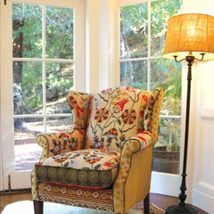 eclectic armchairs by Marika Mill Valley