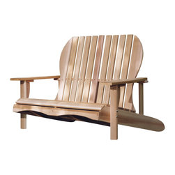 All Things Cedar - Cedar Love Seat - Traditional Adirondack Charm with cozy seating for two. Perfect for that lazy day under a big shady tree. Item is made to order.
