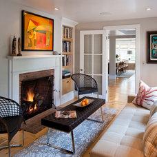Contemporary Living Room by Polhemus Savery DaSilva