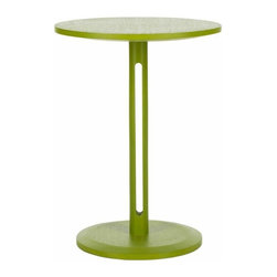 Mod End Table in Lime Green - Spring into action. The Safavieh Bartel end table brings a burst of color to any room in need of a break from a monochromatic mood. Its sleek contemporary style is an instant uplift in sustainable Bayur wood with green finish.