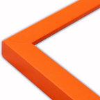 The Frame Guys - Narrow Flat Orange Picture Frame-Solid Wood, 16x20 - *Narrow Flat Orange Picture Frame-Solid Wood, 16x20