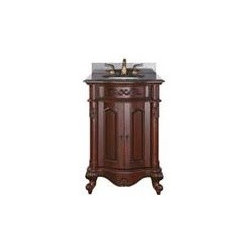 Avanity Provence 24 In. Vanity - The Provence Collection is offered in a beautiful distressed cherry wood finish with hand carved French details.