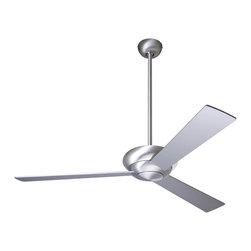 """Modern Fan Company - Modern Fan Company Altus Brushed Aluminum 42"""" Ceiling Fan + Wall Control - Features:"""