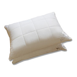 A1 Home Collections - Pair Of Hypoallergenic Quilted Box-patterned Microfiber Jumbo-size Pillows - Featuring a quilted box pattern, these pillows offer great firmness and support. They have a silk braided piping, adding style. These pillows are made of high-quality microfiber, giving them ideal softness and perfect fill power, similar to a down pillow. These pillows are hypoallergenic and minimize allergies.