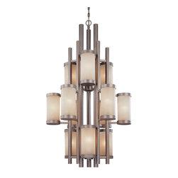 Dolan Designs - Dolan Designs 2623 12 Light Up Lighting Chandelier Cortona Collection - *Cortona Collection 3 Tier Chandelier