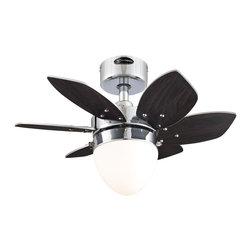 "Westinghouse Lighting - Westinghouse Lighting Origami 24 Six Blade Reversible Indoor Ceiling Fan - Westinghouse Lighting 7864400 Origami 24"" Six Blade Reversible Indoor Ceiling Fan, Chrome"