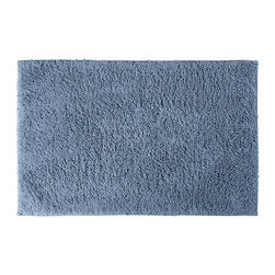 None - Grace Sky Blue Cotton 30 x 50 Bath Rug - Add a gracious note of comfort to your bath or shower with the Grace Cotton collection of bath runners and rugs. The soft loop pile of this blue rug is made of 100-percent cotton, while the classic design blends with any decor.