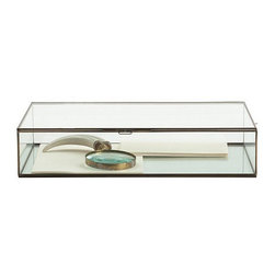 Arteriors Home - Arteriors Home Fuller Large Glass Document Box - Arteriors Home 6355 - Arteriors Home 6355 - Rectangular beveled glass display document box with antique brass borders and hinges. Available in small and large sizes.