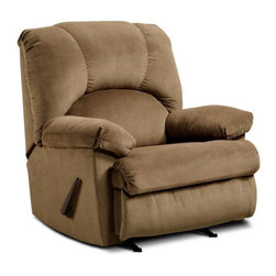 Chelsea Home Furniture - Chelsea Home Charles Handle Rocker Recliner in Montana Latte - Charles Handle rocker recliner in Montana Latte belongs to the Chelsea Home Furniture collection