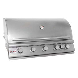 Blaze Outdoor Products - Blaze 40-Inch 5-Burner Built-In Natural Gas Grill With Rear Infrared Burner - Blaze introduces an affordable commercial style grill that was designed with your outdoor BBQ desires in mind. Blaze gas grills feature precision cut,304 stainless steel components which bring the promise of lasting durability to your outdoor BBQ