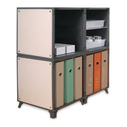 Yube Modular Furniture - Yube Modular Furniture Mini-office Supply Station - Looking for home office furniture? This easy to build storage cabinet holds binders and supplies. Modern, stylish, and eco-friendly Yube Cube eco-furniture is made out of panels that are practically edible.