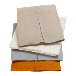 "Coyuchi - Relaxed Linen Bed Skirt, Sunwashed Tangerine, Queen - Far from basic, our bed skirt coordinates with all of our bedding and finishes the bed in sophisticated style. Precise, tailored corners and nature-inspired colors give the relaxed linen a refined finish. 16"" drop."