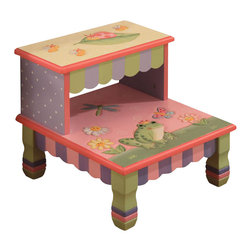 Teamson Design - Teamson Kids Magic Garden Hand Painted Kids Step Stool - Teamson Design - Step Stools - W7486A. This Hand Painted Garden Collection Step Stool brings a New uniqueness and hand crafted eloquent design to any room. The hand carved designs will light up your little ones smile and be pleasant for years to come.