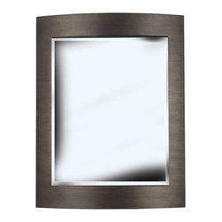 Kenroy - Kenroy 60037 Folsom Wall Mirror - Put your good taste on display and make a grand statement with the sinuous curved frame of this striking mirror in a deep Bronze finish.