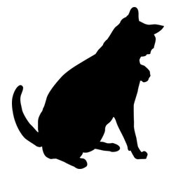 Stencil Ease - Grooming Cat Stencil - Grooming Cat Stencil - BASIC Stencils Collection