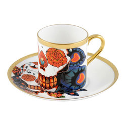 The New English Inkhead Espresso Cup and Saucer Set
