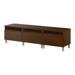 IKEA of Sweden - BESTÅ Bench with legs - Bench with legs, walnut effect
