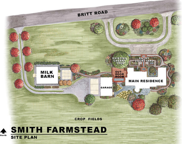 Farmhouse Site And Landscape Plan by Dan Nelson, Designs Northwest Architects