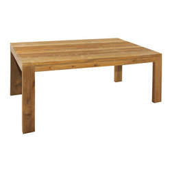 Mamagreen - Eden Dining Tables - Eden Dining Tables feature 100% FSC certified recycled teak. The presence of nature is felt with the thick chunky line of the solid teak. Available in variety of sizes.