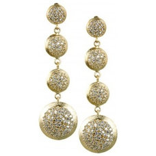 Round swarovski earrings available only at Pernia's Pop-Up Shop.