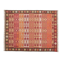 Surrey Kilim Indoor-Outdoor Rug - You mean they make kilim rugs with indoor/outdoor materials now? Yep, this one is woven of 100 percent recycled-polyester yarn, making it perfect for a mudroom.