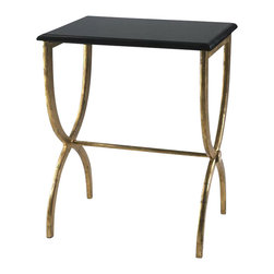 Cyan Design - Black and Marble Side Table - Weight: 62.15lbs.