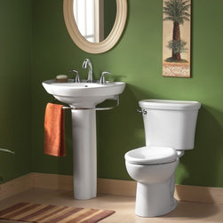 American Standard Tropic Cadet 3 FloWise Round Front Toilet - Smarter design for higher performance and fewer clogs – all at a great price. The Cadet® 3 series toilets come in a variety of styles; one piece and two piece models, elongated and round front bowls, right height and compact versions and even water efficient models that flush on just 1.28 gallons per flush. The Cadet 3 is a hard working versatile series with superior performance.