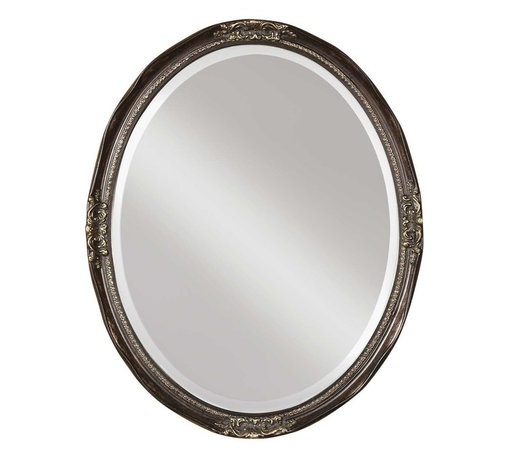 Uttermost - Newport Oval Bronze Mirror - You'll look your best in this delightful oval glass. The amply beveled mirror rests in an impeccably detailed, bronze-finished frame, perfect for your favorite traditional setting.